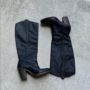 Lucky Brand Black Cowboy Boots Size 6